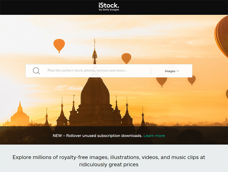 istock-photo-homepage-screenshot